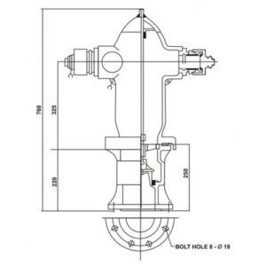 Drawing Hydrant Pillar Appron 2 Ways